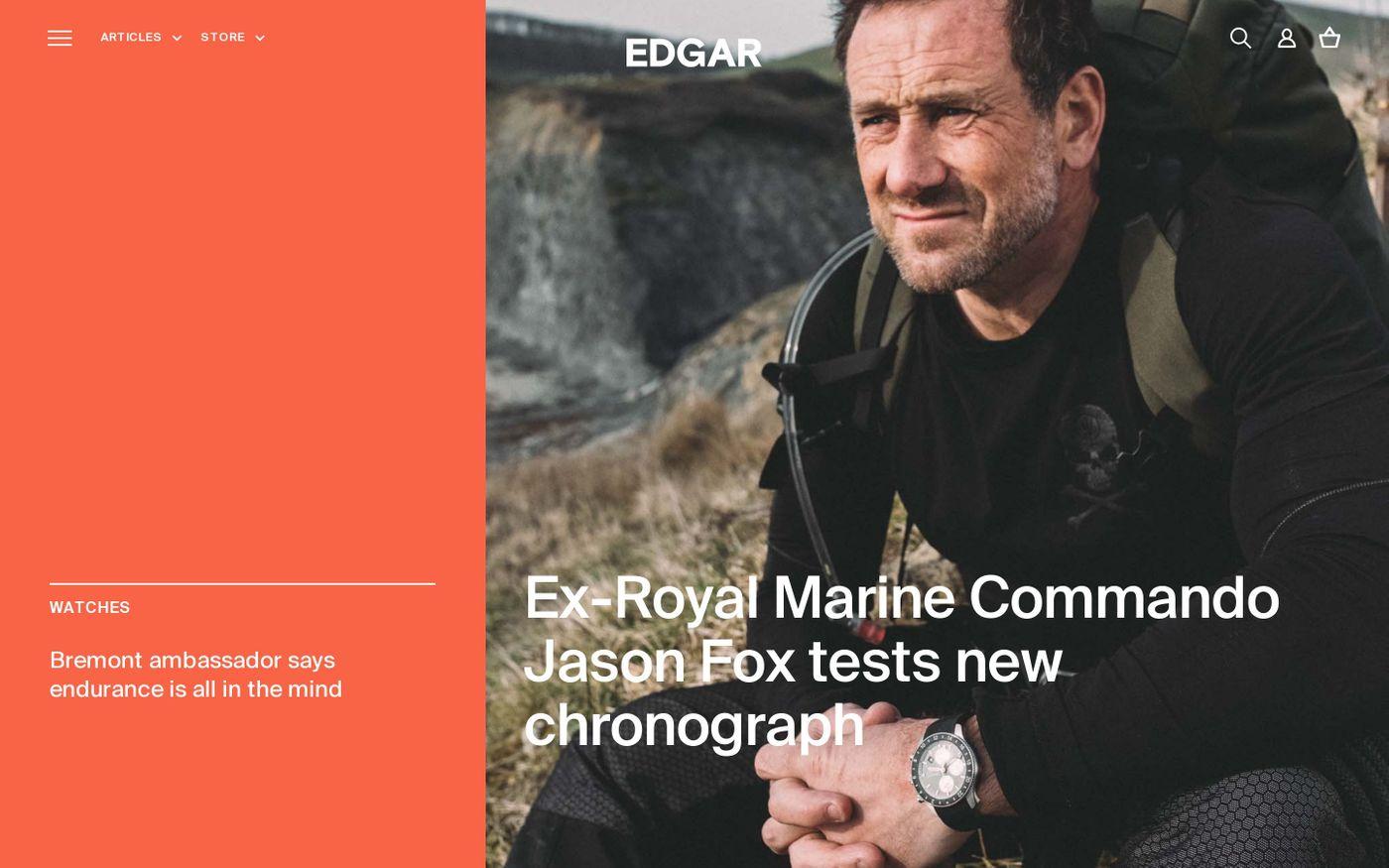 Screenshot of Edgar website