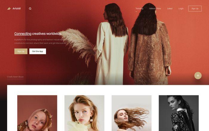 Screenshot of Artstel - Connecting creatives worldwide