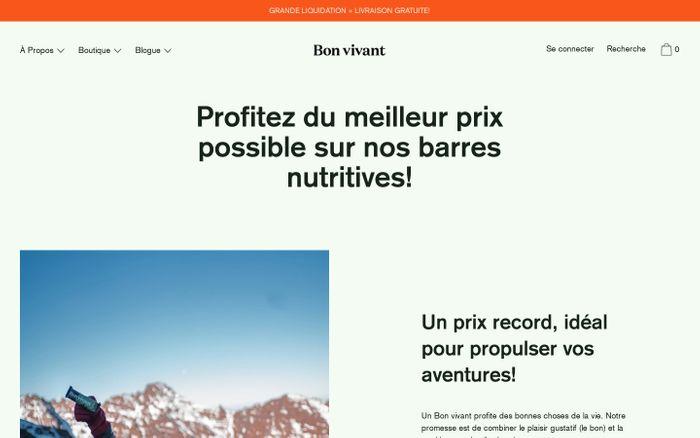 Screenshot of Bon vivant