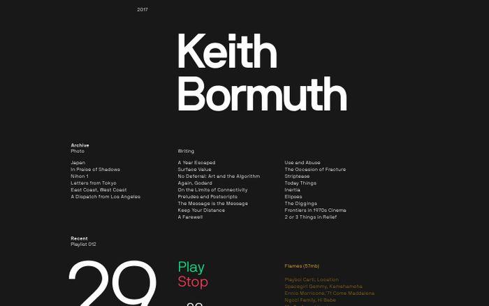 Screenshot of Keith Bormuth