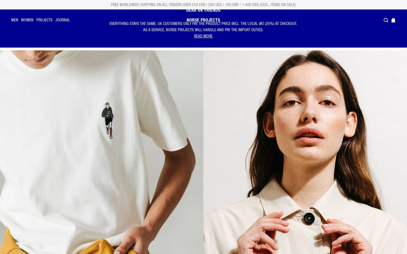 Screenshot of Norse Projects website