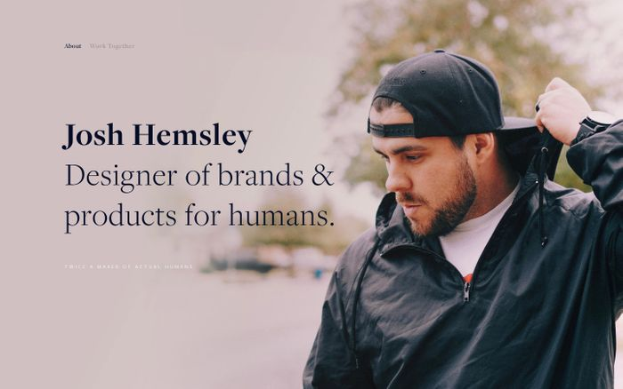 Screenshot of Josh Hemsley «» Brand, Product & Design