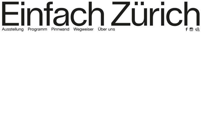 Screenshot of  Einfach Zürich
