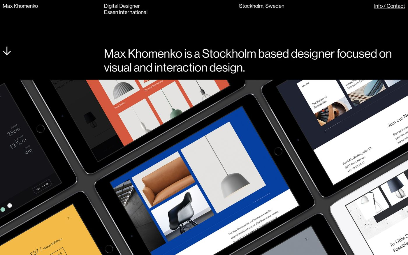 Screenshot of Max Khomenko website