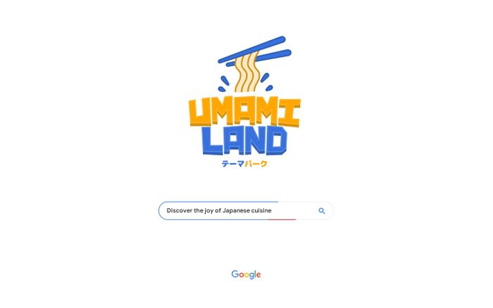 Screenshot of Google Umami Land | Discover the joy of Japanese cuisine website