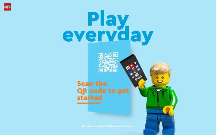 Screenshot of LEGO Play Day website