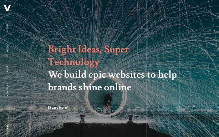 Screenshot of VEEDOO – Epic Websites for Serious Brands