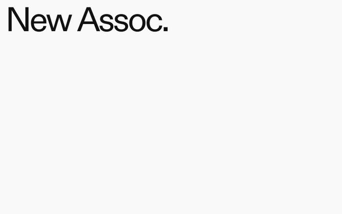 Screenshot of New Assoc. website