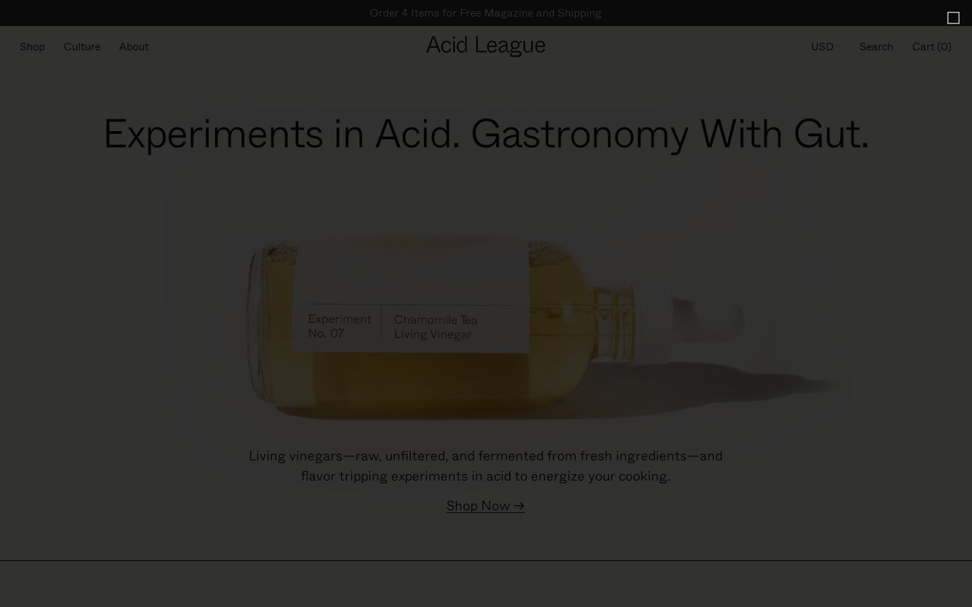 Screenshot of Acid League website