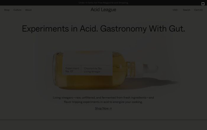 Screenshot of Acid League website