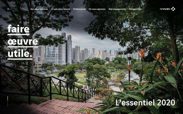 Screenshot of L'ESSENTIEL 2020 DE VINCI website