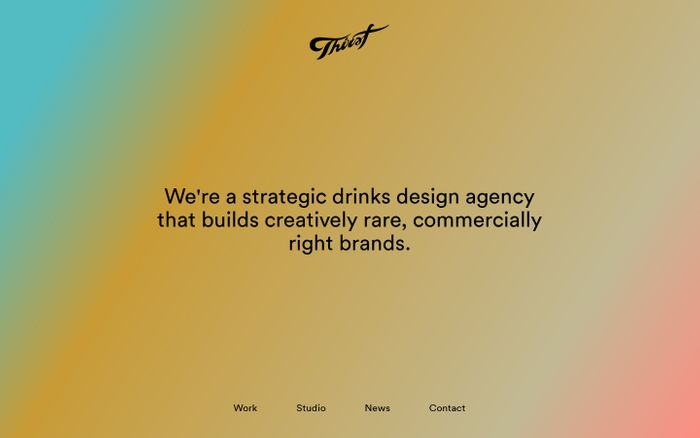 Screenshot of Thirst – Strategic drinks packaging design agency