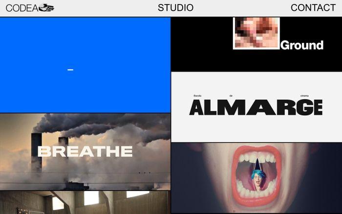 Screenshot of Codea Studio – Creative Agency