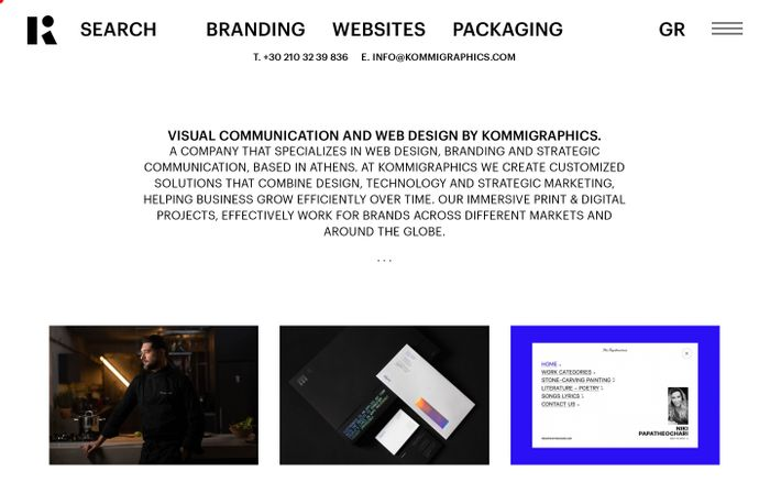 Screenshot of Web Design and Branding Design Company - Athens | Kommigraphics