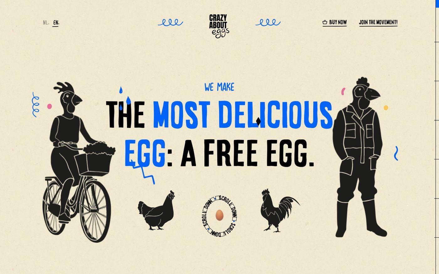 Screenshot of Crazy About Eggs website