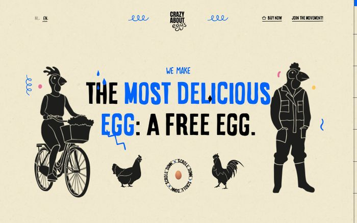 Screenshot of Crazy About Eggs website