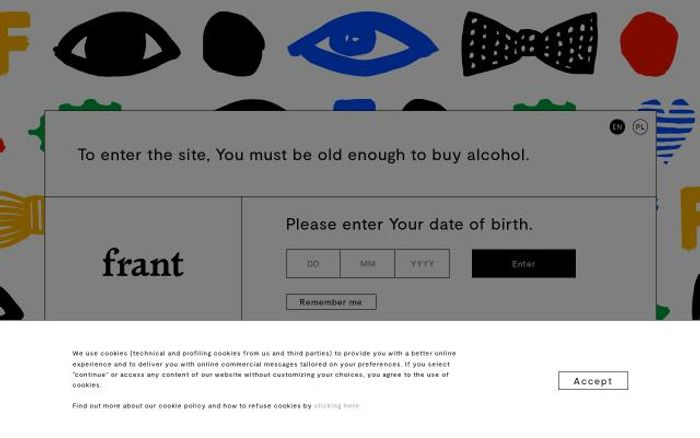 Screenshot of Frant-vodka website