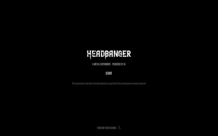 Screenshot of HeadBanger - A metal experiment - powered by AI