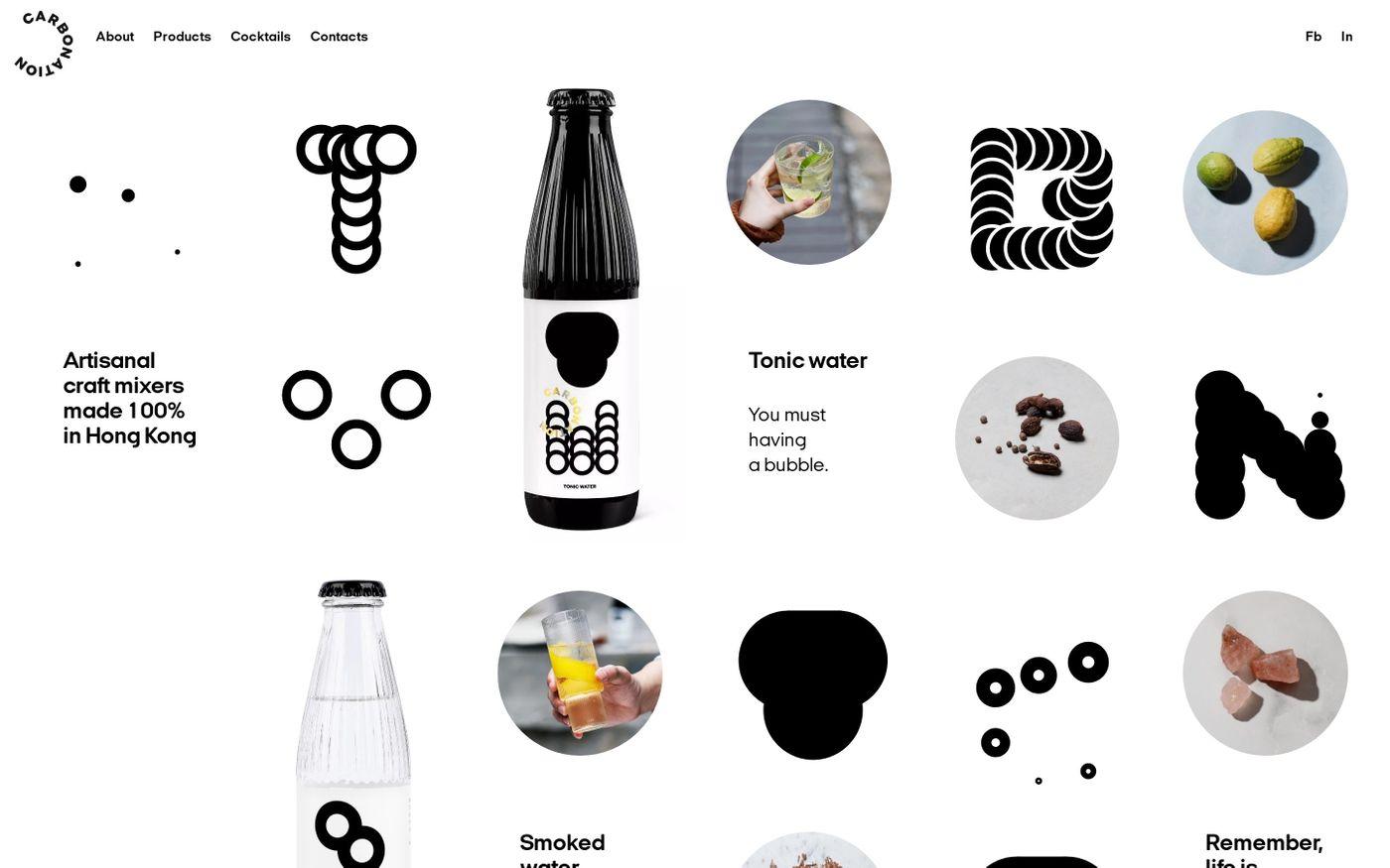 Screenshot of Carbonation website