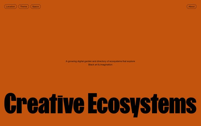 Screenshot of Creative Ecosystems website
