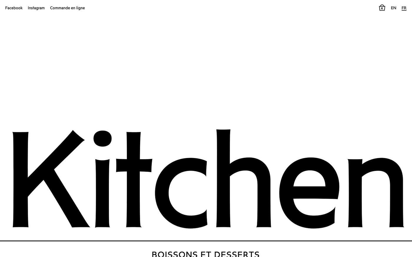 Screenshot of Kitchen Paris website