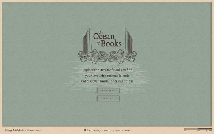 Screenshot of An Ocean of Books