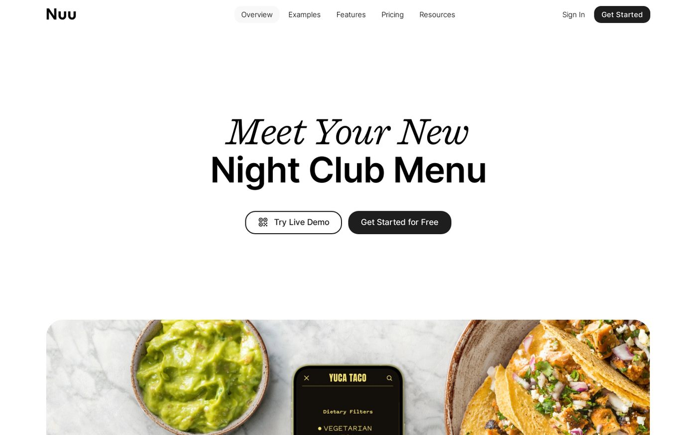 Screenshot of Nuu website