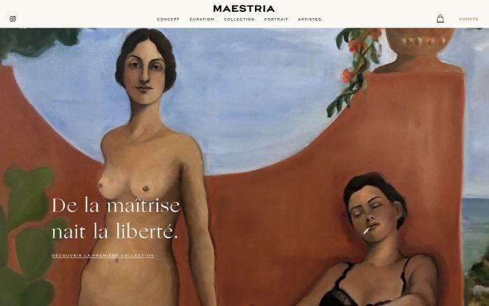 Screenshot of Maestria website