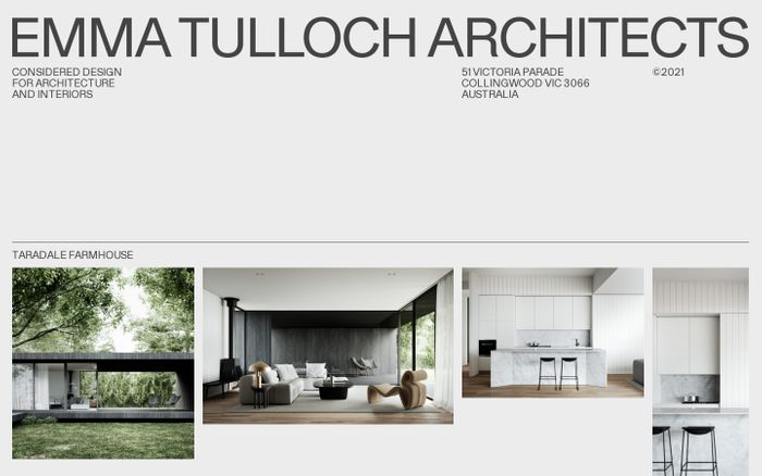 Screenshot of Emma Tulloch Architects