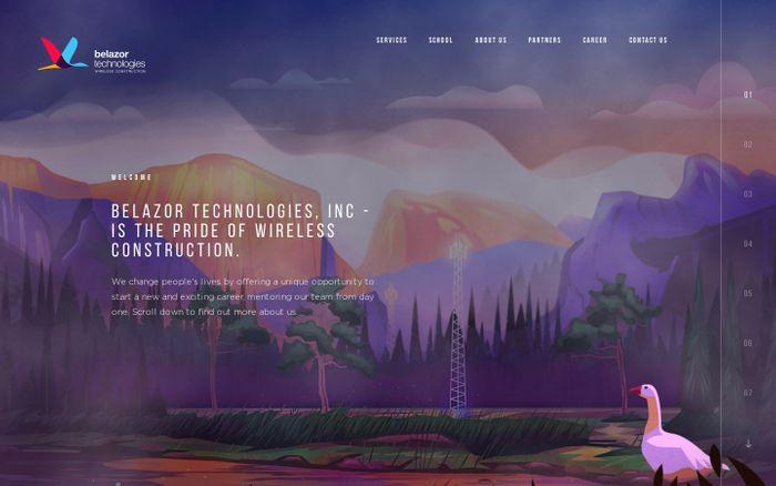 Screenshot of Belazor Technologies, Inc - Cellular Construction