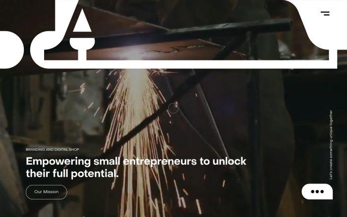 Screenshot of Designed by LA website