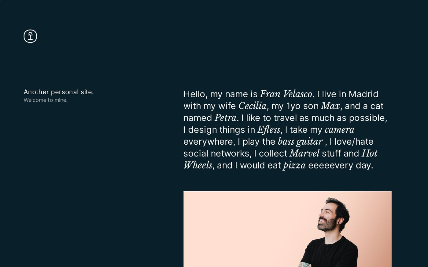 Screenshot of Fran Velasco website