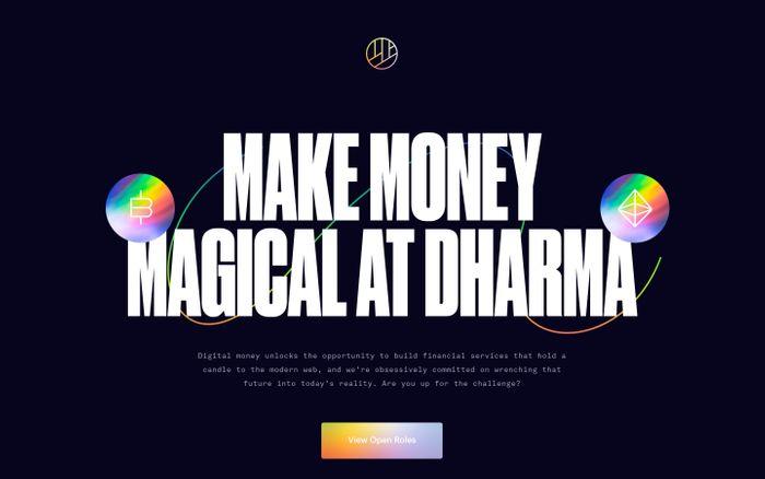 Screenshot of Careers at Dharma