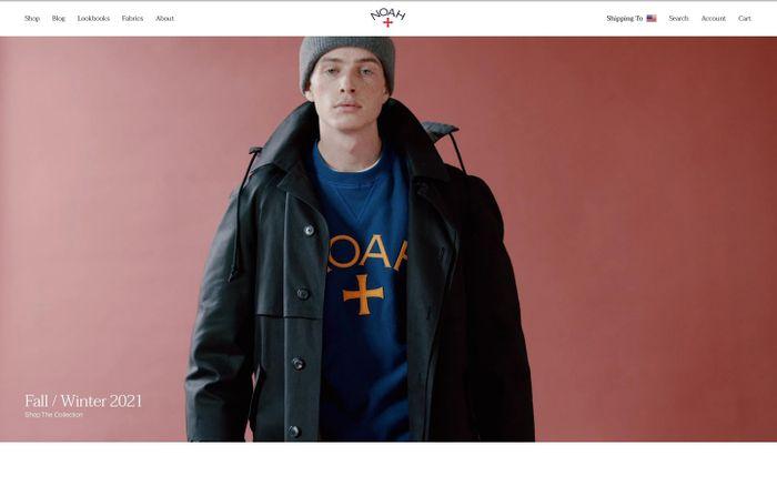 Screenshot of Noah website