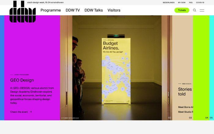 Screenshot of Dutch Design Week website
