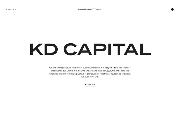 Screenshot of KD Capital website