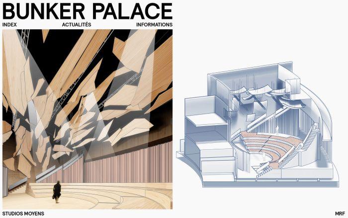 Screenshot of Bunker Palace | Bureau d'architecture