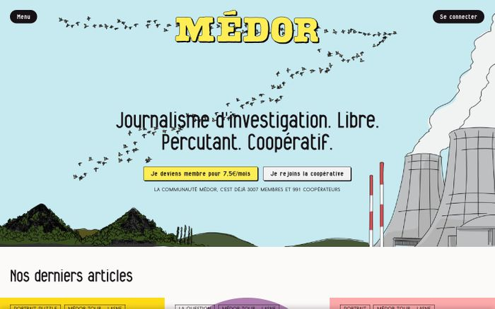 Screenshot of Médor Web - Médor
