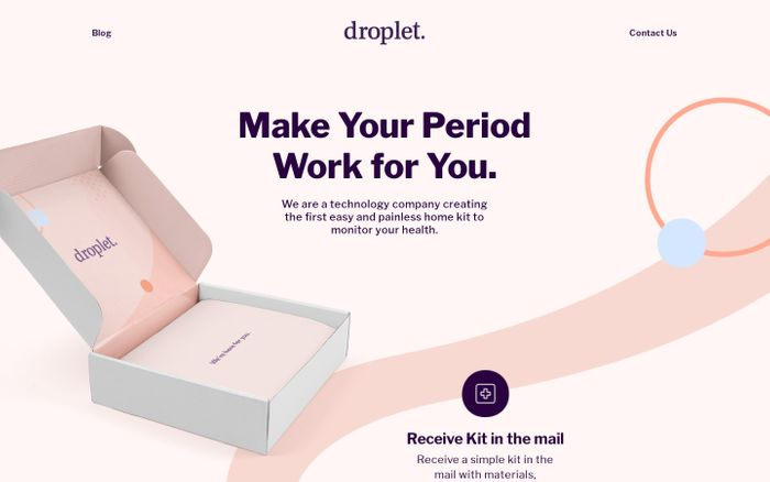 Screenshot of Droplet Health