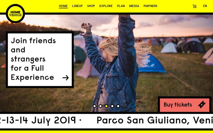 Screenshot of Home Venice Festival   12/13/14 July 2019