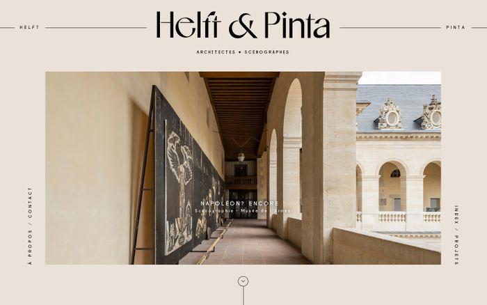 Screenshot of Helft & Pinta website
