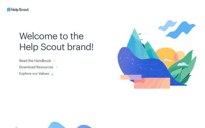 Screenshot of Introduction | Help Scout Brand Guidelines