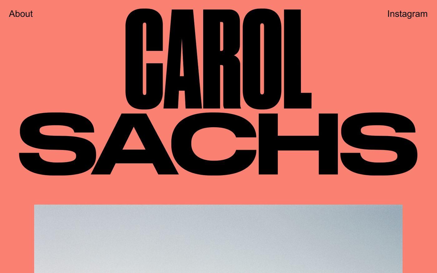 Screenshot of Carol Sachs website
