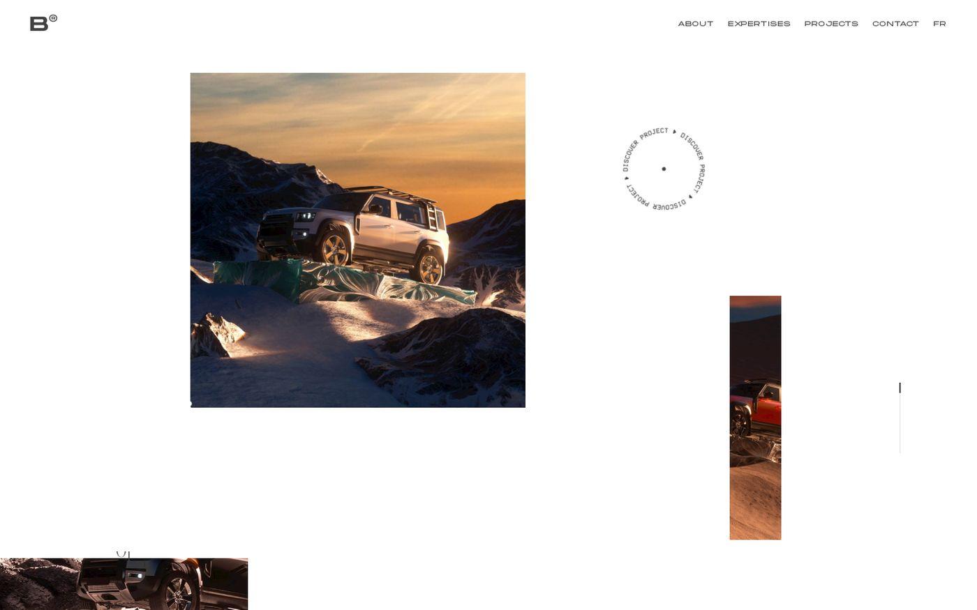 Screenshot of Blackballoon website