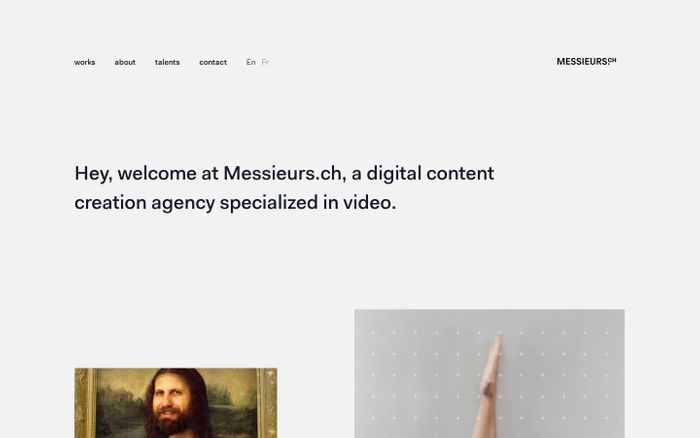 Screenshot of We're a creative studio based in Lausanne | Messieurs.ch