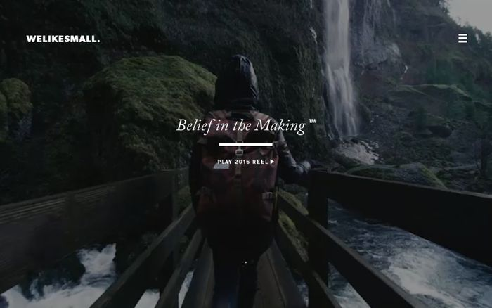 Screenshot of Welikesmall • Belief in the Making™