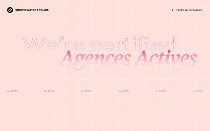 Screenshot of The Castor & Pollux agency is Active Agencies certified