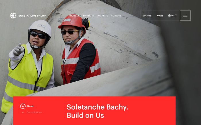 Screenshot of Soletanche Bachy - The world leader in foundations and soil technologies | Soletanche Bachy