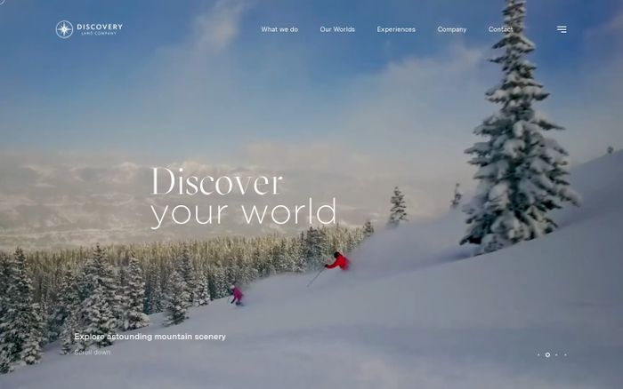Screenshot of Discovery Land Company website