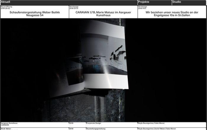 Screenshot of Data-Orbit, Studio für Visuelle Kommunikation